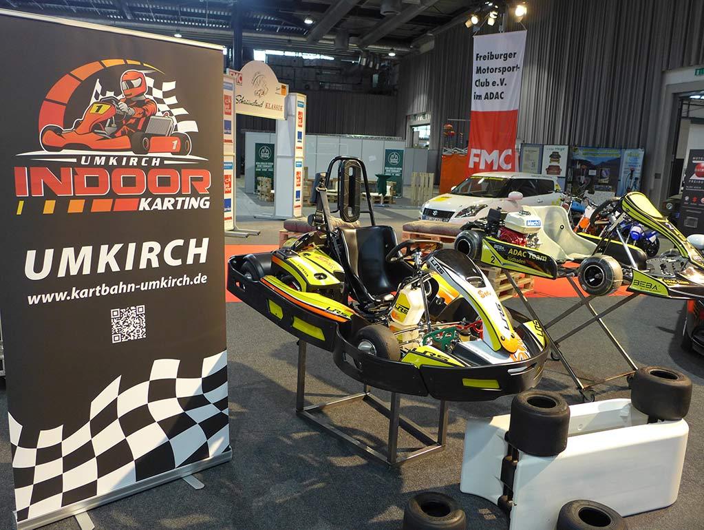 Messestand Kartbahn Umkirch Freiburger Motorsport-Club e.V. im ADAC März 2020